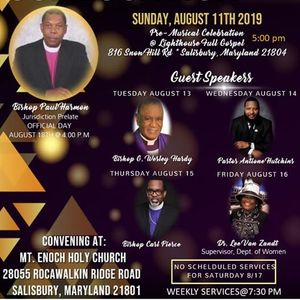 55th Annual Holy Convocation of the Maryland Eastern Shore COGIC at