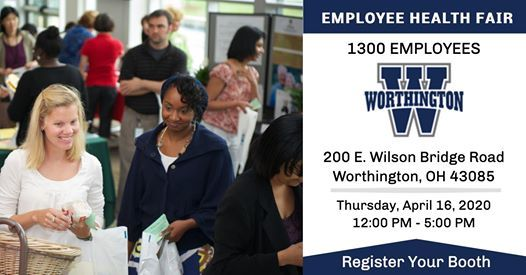 Worthington Schools Employee Health Fair - Register Your Booth