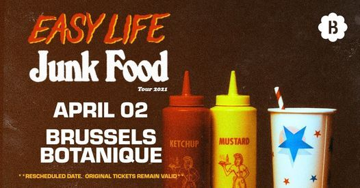 Easy Life • Botanique, 2 April | Event in Brussels | AllEvents.in