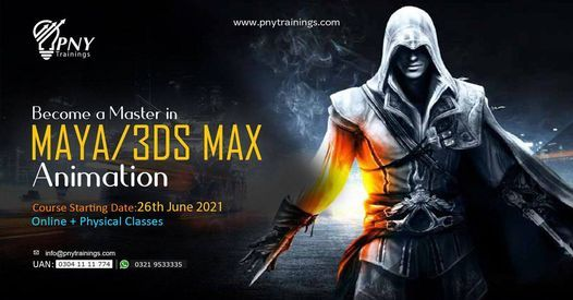 Become a Master in Maya and 3DS Max Animation, 26 June | Event in Lahore | AllEvents.in
