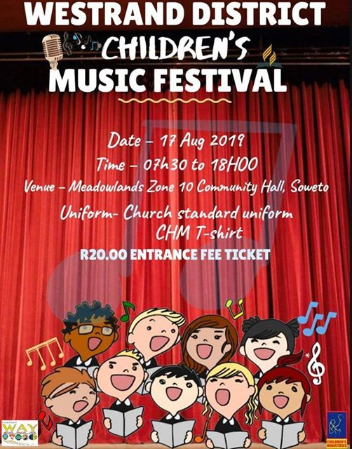 Childrens Ministries Westrand Choir Festival 2019 at