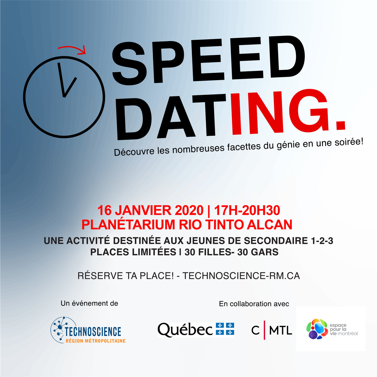 Soirée Speed ​​Dating Sherbrooke