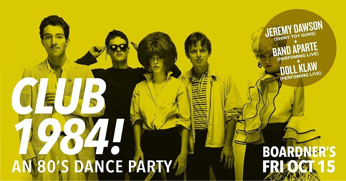 Club 1984 - An 80's Dance Party   Event in Los Angeles   AllEvents.in