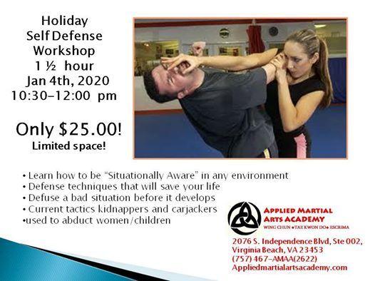 Self Defense Workshop At Applied Martial Arts Academy Virginia Beach