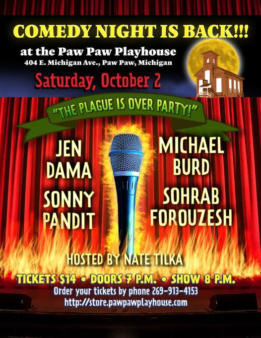 Fall Night of Comedy, 2 October   Event in Paw Paw   AllEvents.in