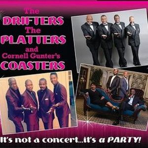 The Drifters Platters and Cornell Gunters Coasters HOLIDAY HOP