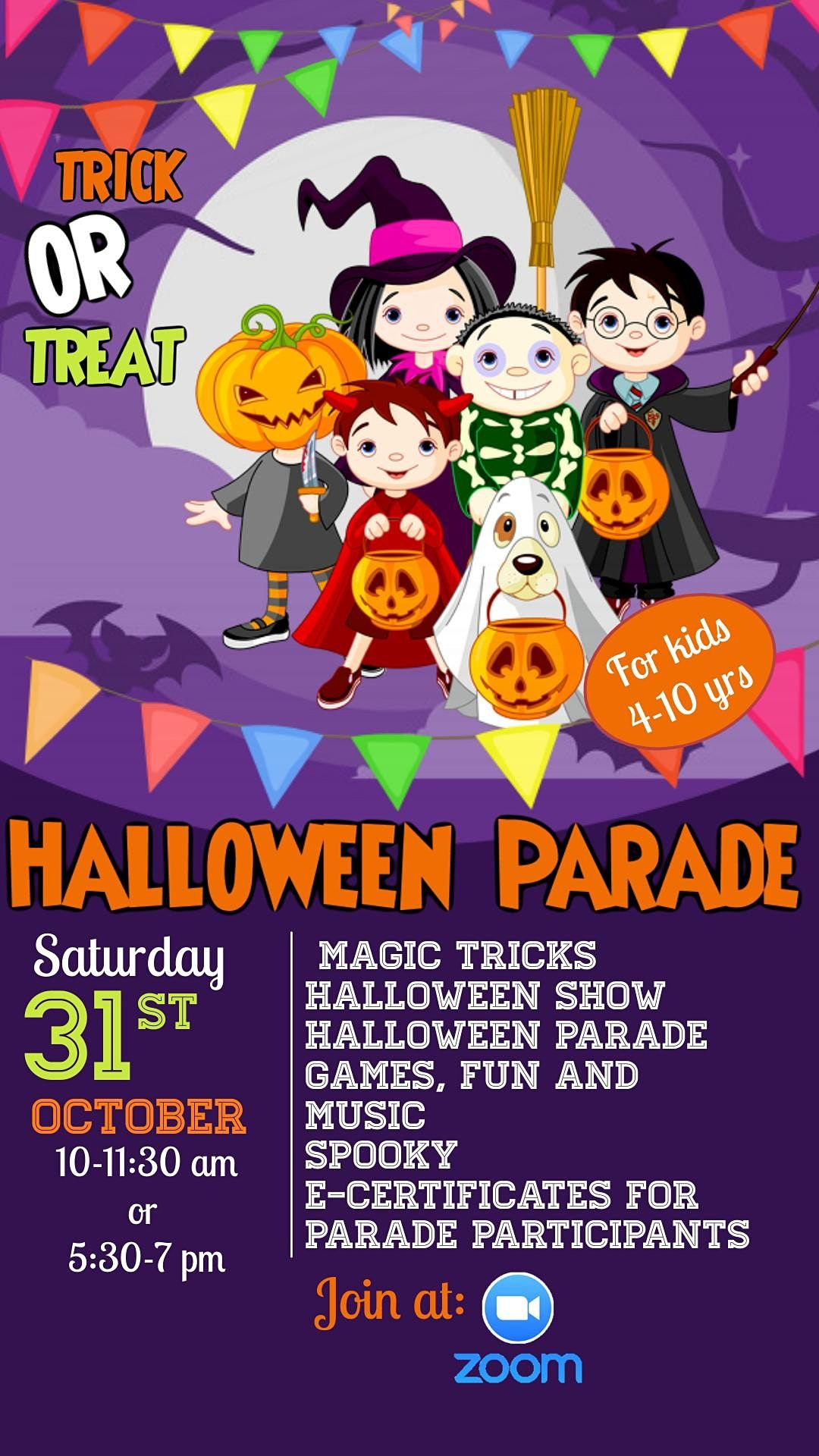 Virtual Halloween Party for Kids, 31 December | Online Event | AllEvents.in