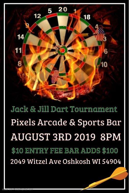 Jack & Jill Dart Tournament at Pixels Arcade & Sports Bar, Oshkosh