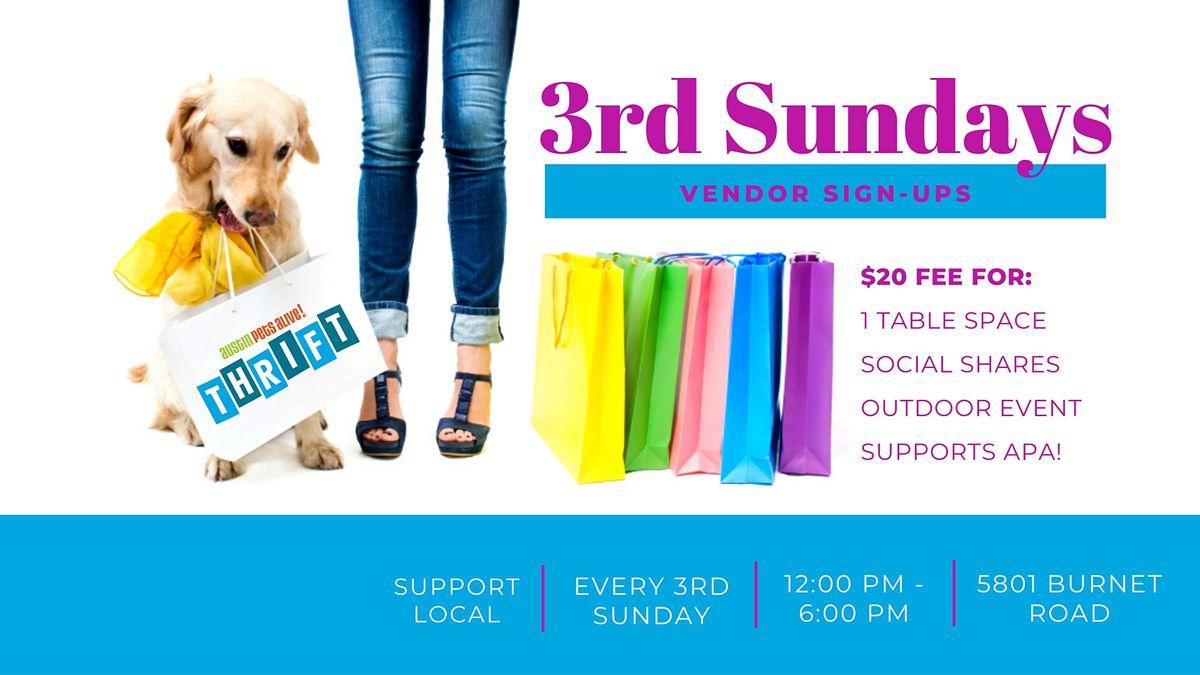 3rd Sunday Vendor Signups At Apa Thrift Burnet Austin