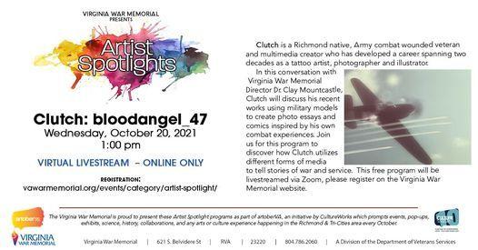 Virginia War Memorial Artist Spotlight: Clutch: bloodangel_47 | Online Event | AllEvents.in