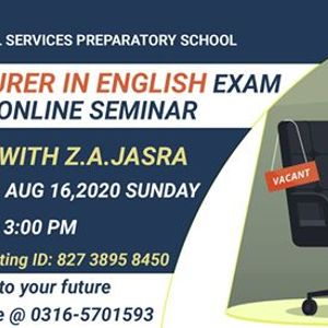 Lecturer in English Online Preparation Classes