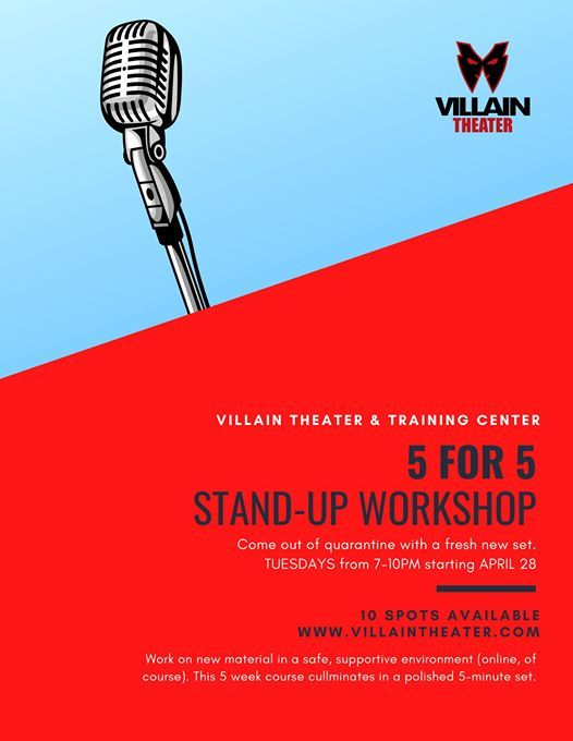 5 for 5 Stand-Up Workshop Online