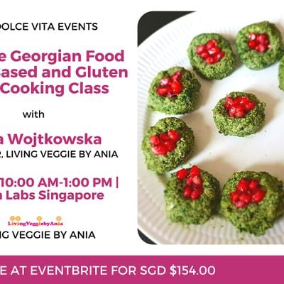 Explore Georgian Food  Plant Based and Gluten Free Cooking Class