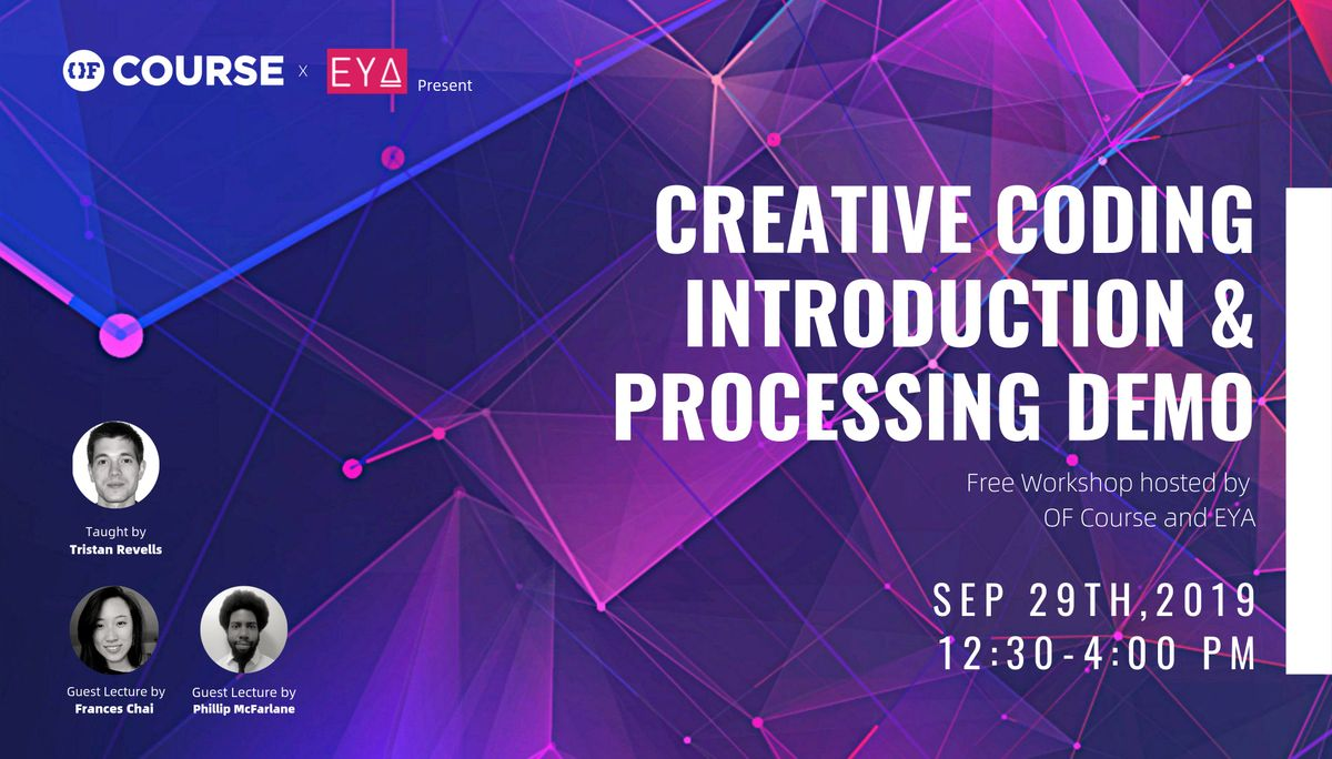 Creative Coding Introduction Workshop at University of