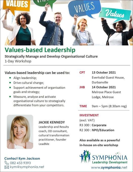 Values-based Leadership with Jackie Kennedy, 13 October   Event in Durbanville   AllEvents.in