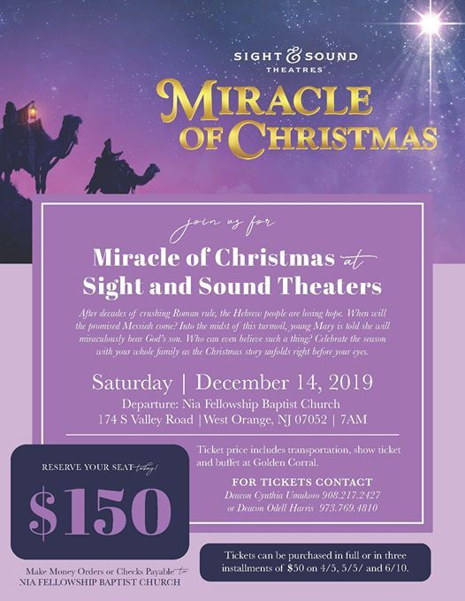 Sight And Sound Miracle Of Christmas.Sight Sound Miracle Of Christmas At Nia Fellowship