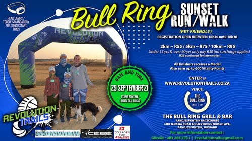 Bull Ring Sunset Run/Walk, 29 September | Event in Midrand | AllEvents.in