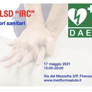 Corso BLSD Irc a Firenze per operatori sanitari