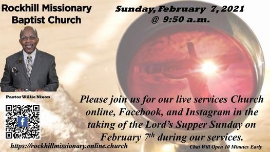 RMBC COMMUNION SUNDAY 02-07-2021, 7 February   Online Event   AllEvents.in