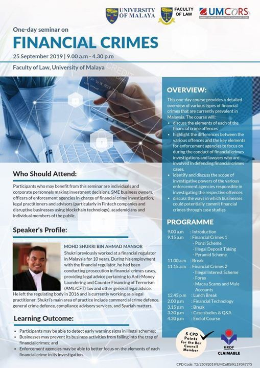 Seminar on Financial Crimes