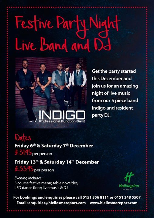 Christmas In The Oaks 2019.Christmas Party Night 7th December 2019 Live Band Indigo