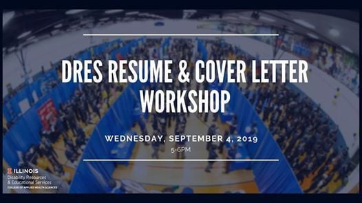 dres resume and cover letter workshop at university of