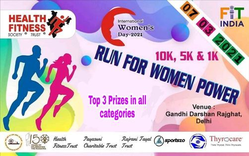RUN FOR WOMAN POWER, 7 March | Event in New Delhi | AllEvents.in