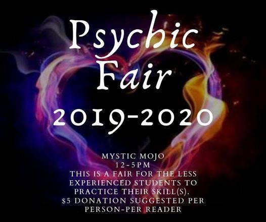 Psychic Fair 2019-2020 at Mystic Mojo, Hamilton