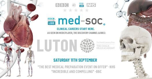 MED-SOC COMES TO LUTON, 11 September | Event in Luton | AllEvents.in