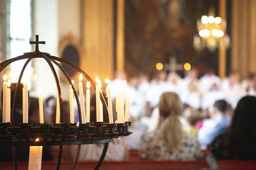 Konfirmationsgudstjnst at Hjrnarps kyrka, ngelholm