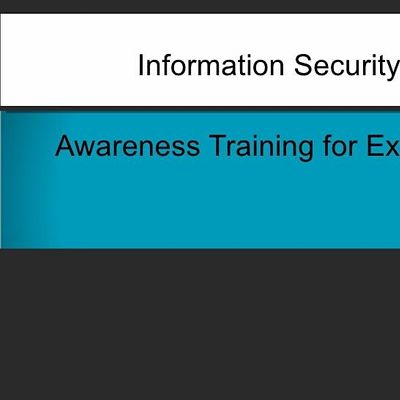 Free Webinar - Cyber Security for Executives