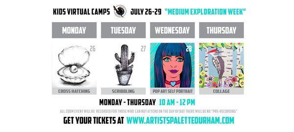 Medium Exploration Week - Virtual Art Camp   Online Event   AllEvents.in