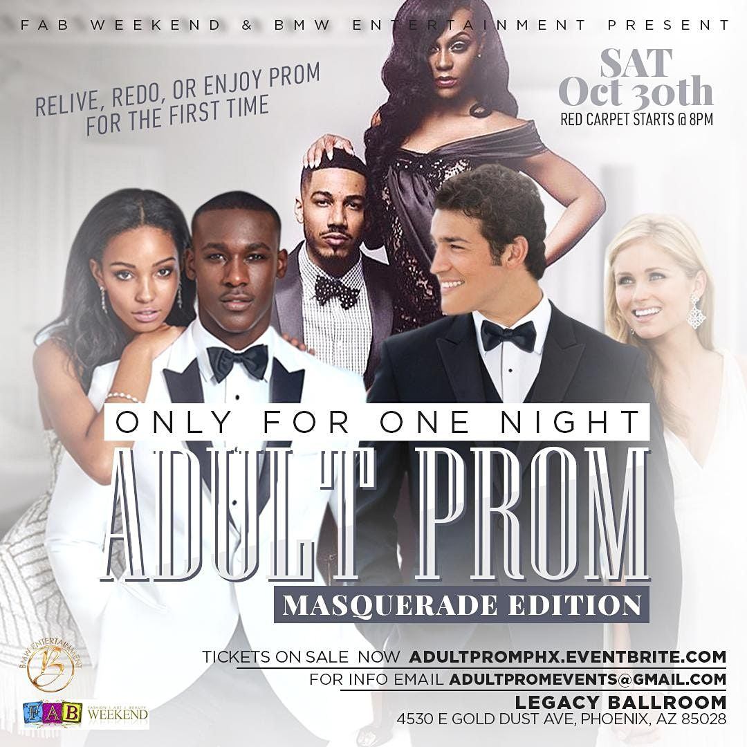 The Adult Prom Phoenix  Masquerade Party, 30 October   Event in Phoenix   AllEvents.in