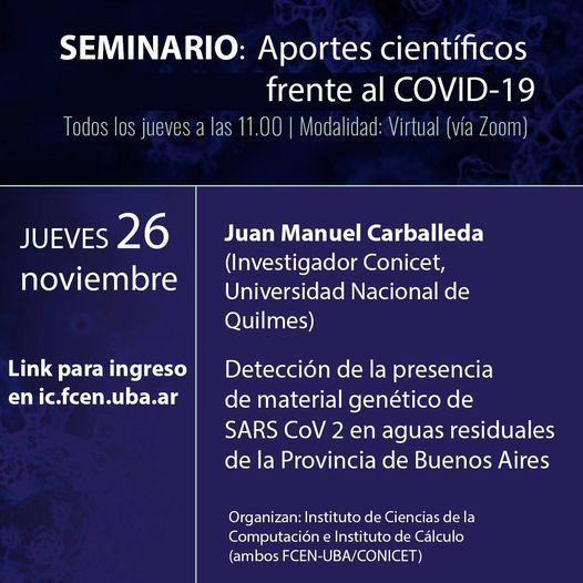 Seminario Aportes Científicos Ante el COVID 19 | Event in Vicente López | AllEvents.in