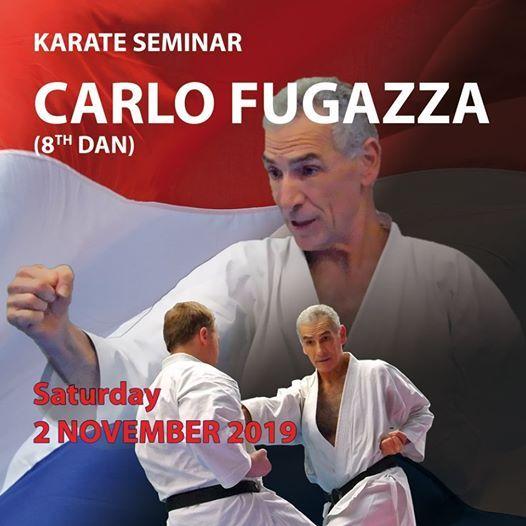 Karate Seminar onder leiding van sensei Carlo Fugazza (8e dan)