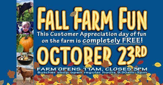 Fall Farm Fun- Customer Appreciation Day! | Event in Skillman | AllEvents.in