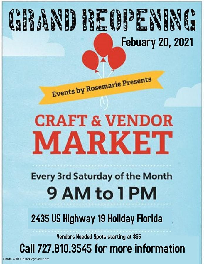 Craft & Vendor Market and Health Fair | Event in Holiday | AllEvents.in