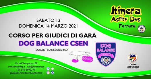 Corso per Giudici di Gara Dog Balance CSEN, 13 March | Event in Ferrara | AllEvents.in