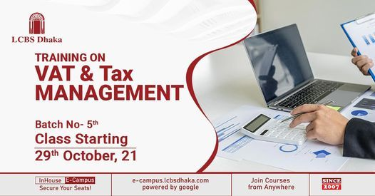 Training on VAT & Tax Management - 5th Batch, 29 October | Event in Dhaka | AllEvents.in