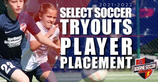 2021/22 Select Soccer Tryouts/Player Placements U13-U19, 17 May   Event in Boerne   AllEvents.in