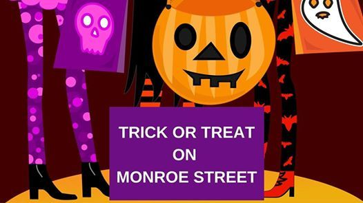 Image result for trick or treat monroe street