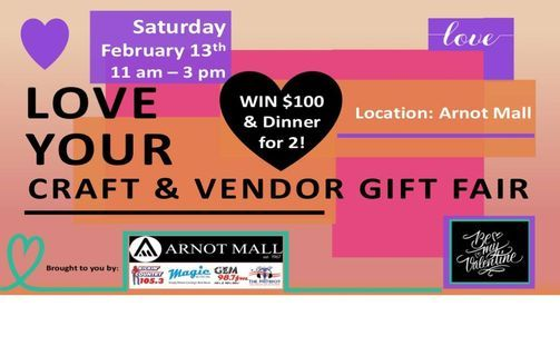 LOVE YOUR CRAFT & VENDOR GIFT FAIR, 13 February | Event in Horseheads | AllEvents.in