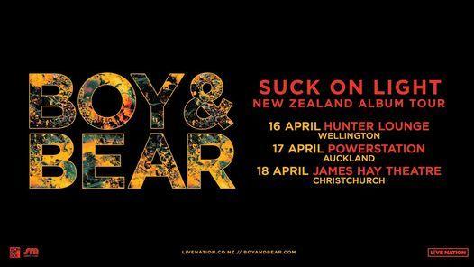 Boy & Bear  Christchurch (Rescheduling)