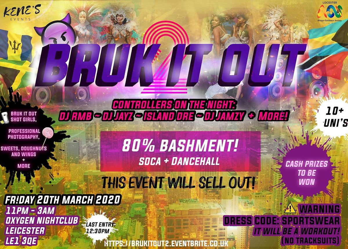 BRUK IT OUT 2, 11 December | Event in Leicster | AllEvents.in