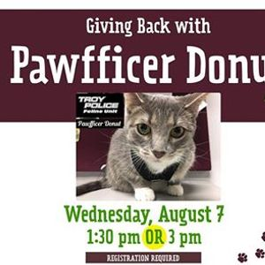 Giving Back with Pawfficer Donut