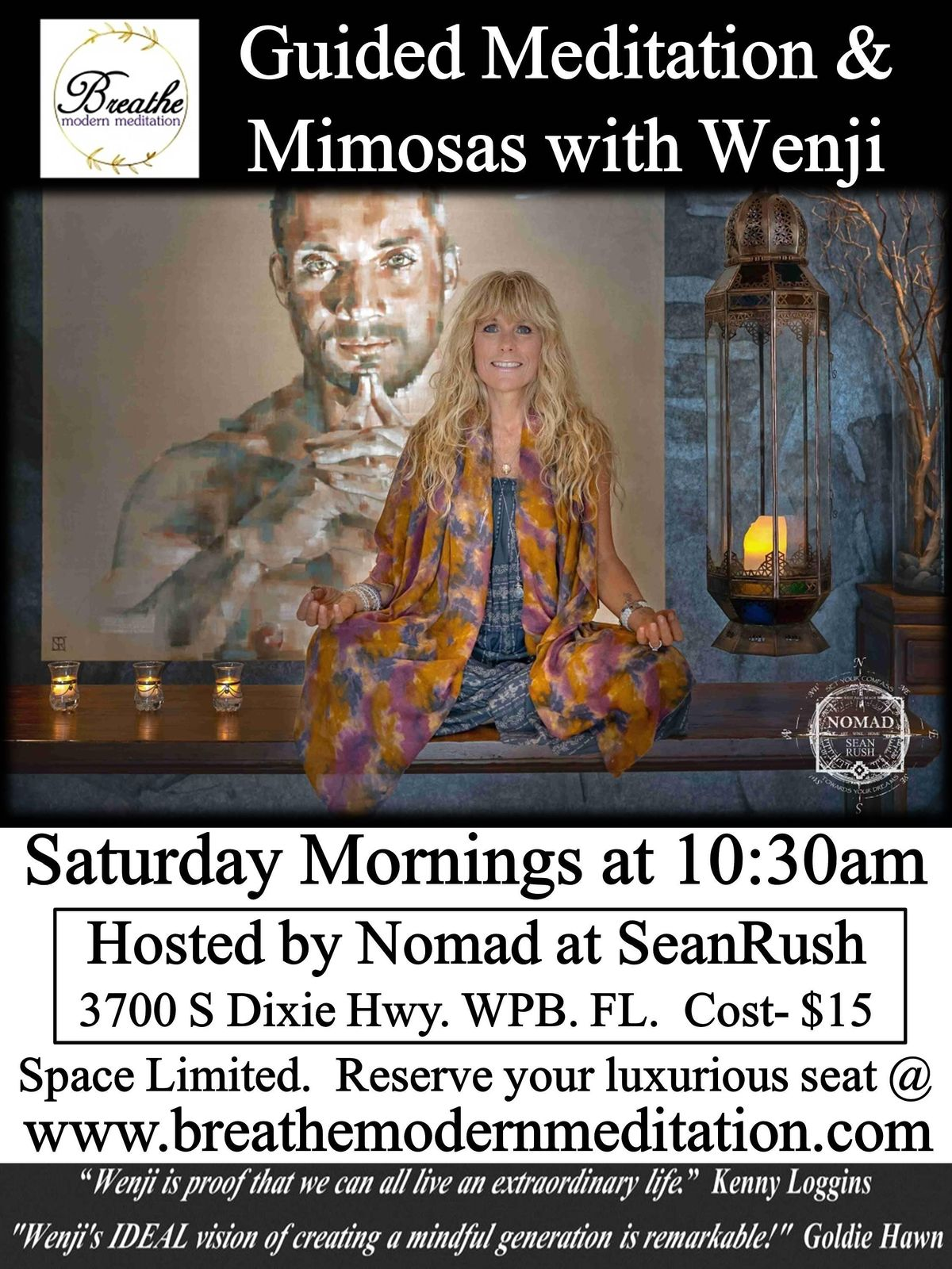 Guided Meditation Experience with Wenji at Nomad at SeanRush | Event in West Palm Beach | AllEvents.in