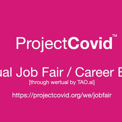 ProjectCovid Virtual Job Fair  Career Expo Event Boston