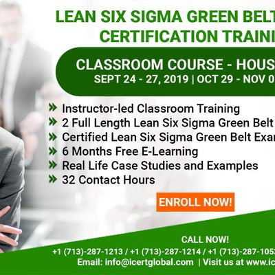 Lean Six Sigma Green Belt (LSSGB) Certification Training Course in Houston TX USA.
