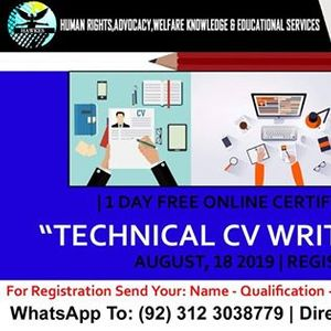 Technical CV Writing Skills - Free Online Certified Training