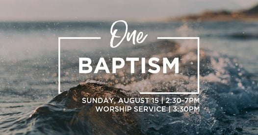 One Baptism, 15 August   Event in Holland   AllEvents.in
